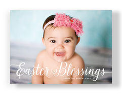 Easter Blessings Overlay 7x5 Flat Card