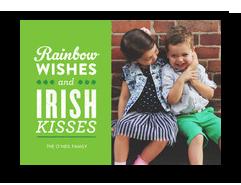 Rainbow Wishes and Irish Kisses 7x5 Flat Card