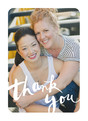Script Thank You Photo - White 3.75x5.25 Folded Card