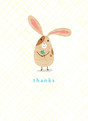 Thanks Bunny 3.75x5.25 Folded Card