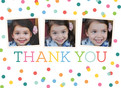 Colorful Thank You Dots 5.25x3.75 Folded Card