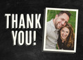 Chalkboard Thank You - Single Photo 5.25x3.75 Folded Card
