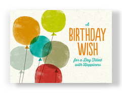 Birthday Balloons Postcard 7x5 Postcard