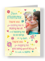 Thank You, Mommy! 5x7 Folded Card