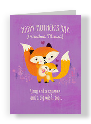 Grandma Fox 5x7 Folded Card
