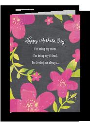Chalkboard Floral 5x7 Folded Card