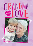Grandma Means Love 5x7 Folded Card