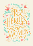 Real Heroes - Mother's Day 5x7 Folded Card