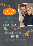 My Daddy 5x7 Folded Card