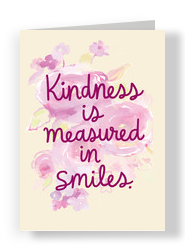 Kindness and Smiles 5x7 Folded Card