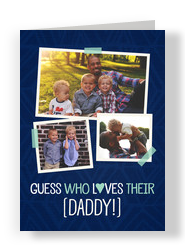 Guess Who? - Photo Father's Day Card 5x7 Folded Card