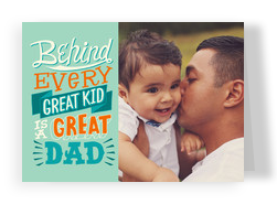 Behind Every Great Kid - Single Photo 7x5 Folded Card
