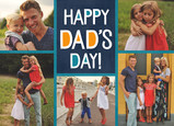 Happy Dad's Day on Blue 7x5 Folded Card
