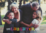 Love Laughter Hugs 7x5 Folded Card