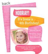 Birthday Hooray! Pink 5x7 Flat Card