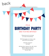 Birthday Bunting - Blue 5x7 Flat Card