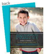 Let's Party! Overlay Invitation 5x7 Flat Card