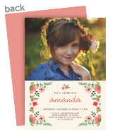 Painted Floral Invitation 5x7 Flat Card