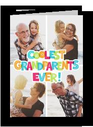 Coolest Grandparents Ever 5x7 Folded Card