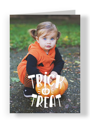 Trick or Treat with Pumpkin 5x7 Folded Card