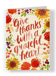 With a Grateful Heart 5x7 Folded Card