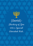 A Special Chanukah Wish 5x7 Folded Card