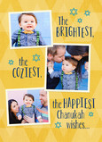 Chanukah Wishes - 3 Photos 5x7 Folded Card