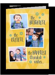 Chanukah Wishes - 3 Photos 5x7 Folded Card