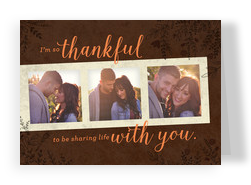 Thankful for Love 7x5 Folded Card