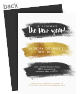 Brush Strokes New Year Invitation 5x7 Flat Card