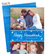 Blue Brush Strokes Hanukkah 5x7 Flat Card