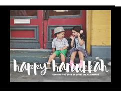 Happy Hanukkah Overlay 7x5 Flat Card