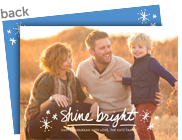 Shine Bright Overlay with Starbursts 7x5 Flat Card