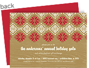 CYO Invitation - Snowflake Pattern on Wood 7x5 Flat Card