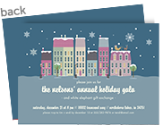 CYO Invitation - Winter Houses 7x5 Flat Card