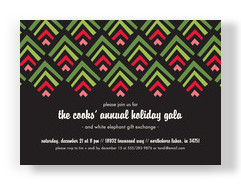 CYO Invitation - Bold Holiday Pattern 7x5 Flat Card