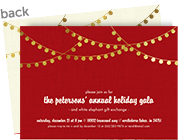 CYO Invitation - Gold Lights on Red 7x5 Flat Card