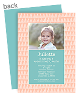 CYO Invitation - Soft Peach Tonal Triangles 5x7 Flat Card