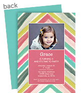 CYO Invitation - Pastel Chevron 5x7 Flat Card