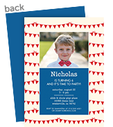 CYO Invitation - Red Bunting with Blue 5x7 Flat Card
