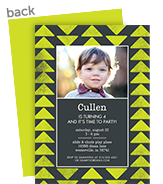 CYO Invitation - Bright Green Triangles 5x7 Flat Card