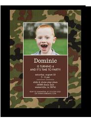CYO Invitation - Camouflage 5x7 Flat Card