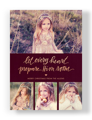 Let Every Heart 5x7 Flat Card