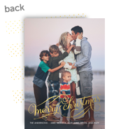 Gold Christmas Overlay 5x7 Flat Card