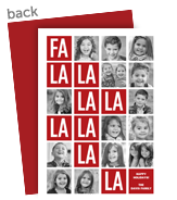 Fa La La La La! 5x7 Flat Card