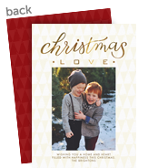 Christmas Love 5x7 Flat Card
