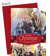 Merry Christmas with Plaid Band 5x7 Flat Card
