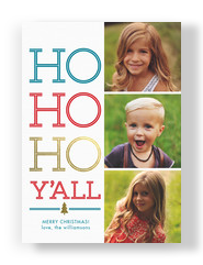 Ho Ho Ho Y'all 5x7 Flat Card