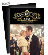 "happy new year in ""great gatsby"" style 5x7 Flat Card"