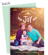 a season filled with joy overlay 5x7 Flat Card